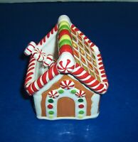 Christmas Pier 1 Gingerbread House Dipping Bowl with Spreader Peppermint NWT