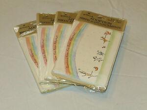 Hallmark 4 packs of 8 Adoption Birth Announcements baby cards#