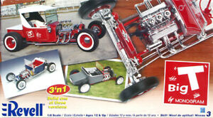 """Monogram Updated """"The Big T"""" 1924 Ford """"T"""" Roadster Pickup, 1/8 Scale, Sealed"""