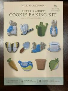 NEW Williams Sonoma Peter Rabbit 27 Piece Easter Cookie Cutter Baking Kit Beatri