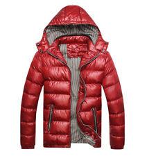 Mens Winter Warm Jacket Down Casual Parka Padded Coat Outwear Detachable Hat US