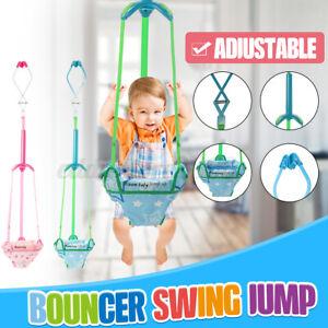 Adjustable Baby Door Jumper Swing Bouncer Infant Frame Safari Exercise To
