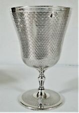 ANTIQUE ISLAMIC SOLID SILVER OTTOMAN GOBLET CUP ENGRAVED SULTAN TUGHRA 1880