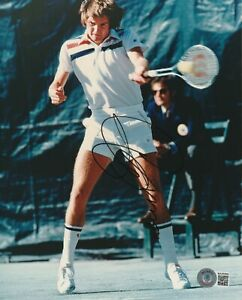 JIMMY CONNORS Signed 8x10 PHOTO w/ Beckett COA (BAS)