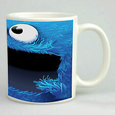 Cookie monster mug funny blue monster mug kids  novelty gift 11oz white mug
