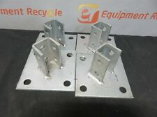 """Pallet Racking Column End Protector Stainless Steel 2 1/4"""" Lot of 4"""