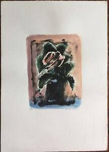 Eliano Fantuzzi litografia colorata a mano Natura Morta 50x35 firmata numerata
