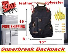 "Men's Travel 16"" Laptop Backpack Shoulder Bag Swiss Hiking School Bag Rucksack"