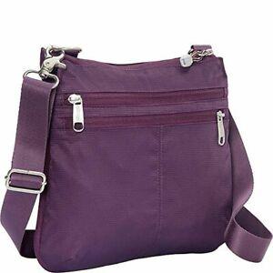 "eBags Crossbody Travel Day Bag Adjustable Strap Zipper Purple Sz.11""x11"""