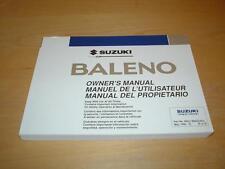 SUZUKI BALENO GS GLX CULTUS ESTEEM WAGON Owners Manual Instruction Handbook Book
