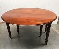 Table 6 pieds en acajou / Table Louis Philippe / Tabla a battant / Guéridon