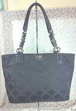 COACH Madison Op Art Black Shoulder Bag / Tote 20481