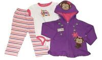 New 3pc OUTFIT LOT BABY TODDLER 18 MONTHS GIRLS LEGGINGS JACKET BODYSUIT CREEPER