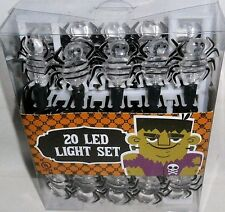Halloween Spider'S Led Stringlight Set 20 Count 8.5ft Cord Length