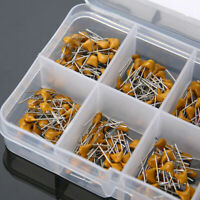 300pcs 10 Values 50V 10pF~100nF Ceramic Disc Capacitors Assortment Kit with Box