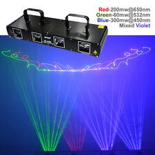 SHINP 4 Lens RGBP DMX 7 CH Laser Projector Lights Party DJ KTV Stage Lighting