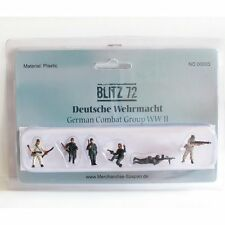 BLITZ 72 1/72 BZF03 WW2 Tedesco Fanteria Estate & Inverno-Set 6 figure dipinte
