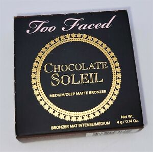 Too Faced Chocolate Soleil Medium / Deep Matte Bronzer 4g / .14oz FREE SHIPPING