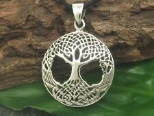 leggero albero della vita ciondolo in argento 925 Ø 2,4cm Celtico ABETE NUOVO