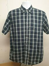 Henri Lloyd Men Short Sleeve Blue Button up Shirt Size L Casual Summer Tops