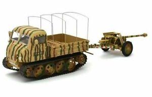 ATLAS 1/43 GERMAN STEYR RSO 0/1 TRACKED GUN TRACTOR & PAK 40 ANTI TANK GUN 1944