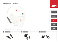 Z2460BXSVR GIVI RICAMBIO PRESE ARIA BORDEAUX per CASCO JET 30.3 TWEET