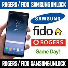 Unlock Rogers Fido Samsung S9 S8 S8+ S7 EDGE S6 S5 J2 J3 J5 A5 NOTE 7 4 3 2