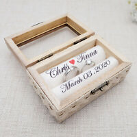 Custom Ring Box Rustic Wedding Ring Box Personalized Wood Wedding Ring Box