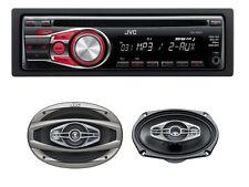 JVC KD-R331 Car Stereo CD Player MP3 Aux   JVC CS-HX6948 490W 6x9 4-way speaker