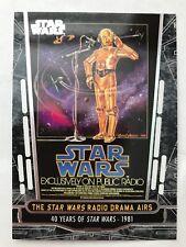 2017 Topps Star Wars 40th Anniversary #65 The Star Wars Radio Drama Airs
