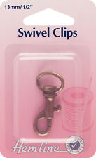 Swivel Clip Bronze - 13mm Fit To Straps, Cords, Ribbons or Key Rings