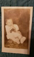 RPPC of Sweet Little Child with Toy. Precious!