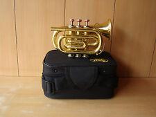SUPER AFFARE!! NUOVI Finitura Ottone BB FLAT POCKET trumpet+free CASE+M / p+fast consegna