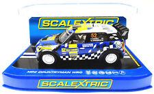 "Scalextric ""Rally Sweden"" Mini Countryman WRC DPR W/ Lights 1/32 Slot Car C3401"