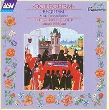 Ockeghem: Requiem; Missa Fors Seulement/ Clerk's Group (CD, 1997, ASV) NEW