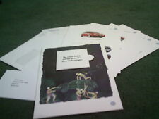 1999 VW LUPO & POLO - MULTI PART UK ONLY MAIL OUT PORTFOLIO BROCHURE