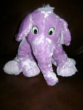 KOHL'S CARES FOR KIDS PURPLE ELEPHANT THE NOSE BOOK PLUSH STUFFED ANIMAL TOY 12""