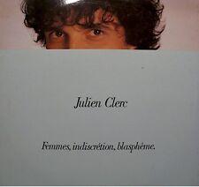 JULIEN CLERC femmes, indiscretion, blasphème LP 1982 cabane micro/hiver 81 EX++