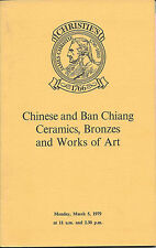 CHRISTIE'S LONDON Ban Chiang CHINESE CERAMICS BRONZES ENAMELS WOA Catalog 1979