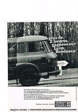 PUBLICITE ADVERTISING  1964   RENAULT  SAVIEM   utilitaire camion