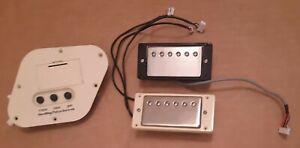 For parts Epiphone Les Paul Ultra guitar humbucker pickups 9 volt control panel