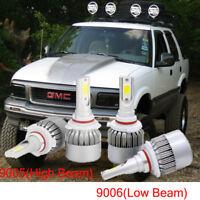 Combo 9005 HB3 + 9006 HB4 LED Headlight Kit Bulbs For GMC Jimmy 2001-1998 6000K