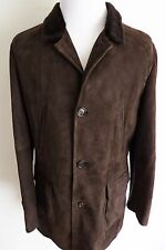 $8435 BRUNELLO CUCINELLI Chestnut Suede Spanish Lamb Shearling Fur Coat 2XL XL