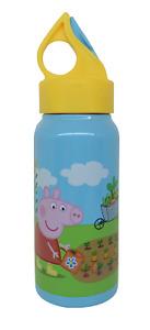 DISNEY PEPPA PIG KIDS 473ML STAINLESS STEEL HYDRO CANTEEN DRINK BOTTLE