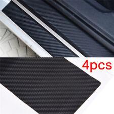 4pcs 3D Carbon Fiber Look Car Door Plate Sill Scuff Cover Sticker Anti ScratchTS