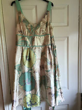 NEXT LADIES CREAM GOLD SUMMER DRESS FLORAL SIZE 20 NEW