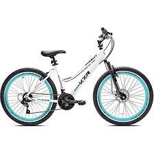 "26"" Women Mountain Bike Aluminium 21 Speed Bicycle White Teal"