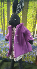 Stunning Luna Lapin Handmade Wool Coat In Crocus, With Pearl Buttons