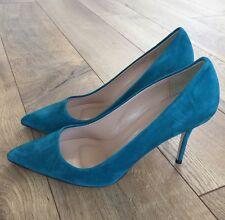 Authentic JCrew Elsie Suede Pumps Womens Sz 8  Vivid Jade NEW $245 Italy A4969