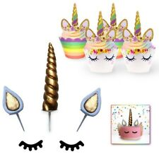 Unicorn Cake & Cupcake Topper Decoration Set | 54 Pcs | Birthday Party Supplies